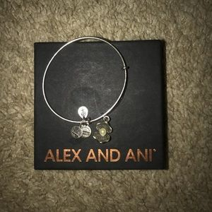 Alex and Ani pearl charm bracelet